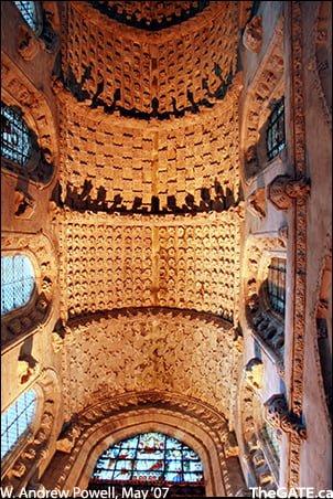 Rosalyn Chapel ceiling