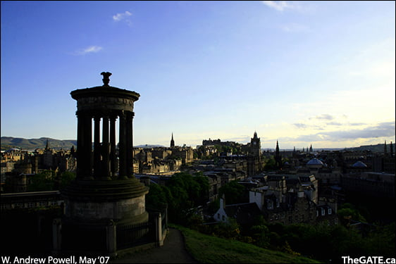 The view from Edinburgh